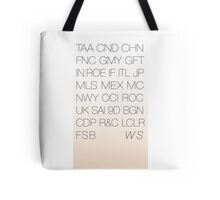 World Showcase of Acronyms Tote Tote Bag