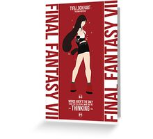 Tifa Lockheart FFVII Greeting Card