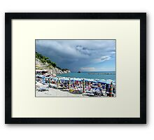 Italian Beach Framed Print