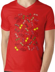 Oh, I'm Mad About Cheeky Cherries Pattern Mens V-Neck T-Shirt