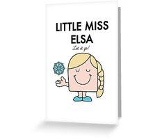 Little Miss Elsa Greeting Card