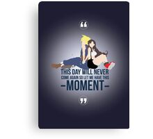 Cloud and Tifa - Moment Canvas Print