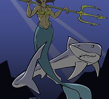A Girl and Her Shark by TheHaloEquation
