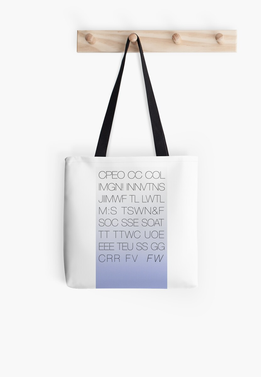Future World Acronym Tote by magictime