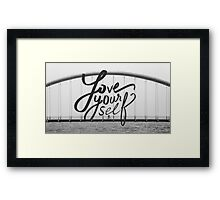 Love Yourself - Justin Bieber Quotes Framed Print
