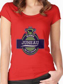 Juneau Alaska Emblem Women's Fitted Scoop T-Shirt