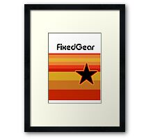 Fixed Gear Retro Star Framed Print