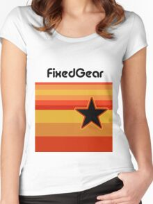 Fixed Gear Retro Star Women's Fitted Scoop T-Shirt