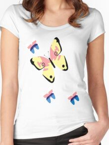 Butterfly Valerie and Sylveon Women's Fitted Scoop T-Shirt