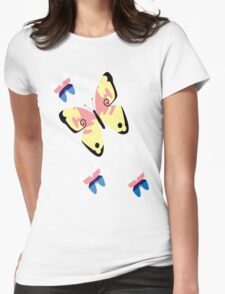 Butterfly Valerie and Sylveon Womens Fitted T-Shirt