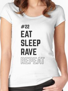 Eat Sleep Rave Women's Fitted Scoop T-Shirt