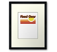 Fixed Gear Sunset Framed Print