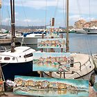 Painting at the Harbour by Marylou Badeaux