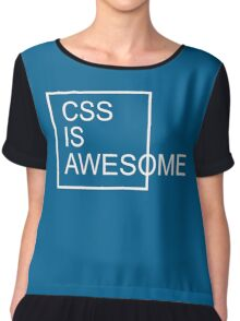 CSS Is Awesome Funny Quote Chiffon Top