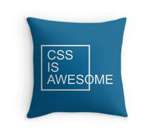 CSS Is Awesome Funny Quote Throw Pillow