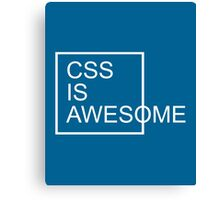 CSS Is Awesome Funny Quote Canvas Print