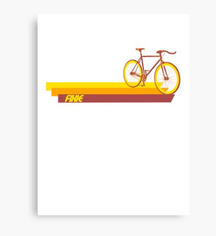 Fixie Retro Stripes Canvas Print