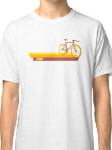 Fixie Retro Stripes Classic T-Shirt