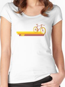 Fixie Retro Stripes Women's Fitted Scoop T-Shirt