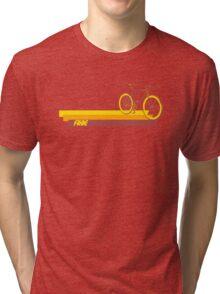 Fixie Retro Stripes Tri-blend T-Shirt