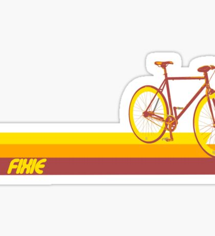 Fixie Retro Stripes Sticker