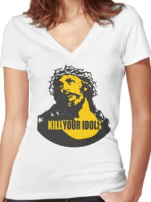 KILL YOUR IDOLS Women's Fitted V-Neck T-Shirt