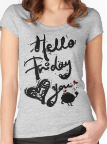 Hello Friday Love you Women's Fitted Scoop T-Shirt