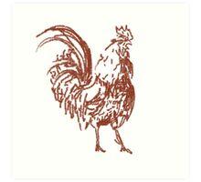 Cock Art Print