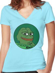 Dank Memes? Women's Fitted V-Neck T-Shirt