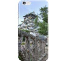Himeji Castle fenced in iPhone Case/Skin