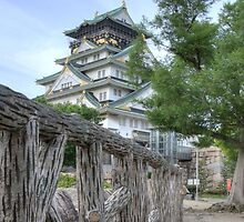 Himeji Castle fenced in by Flossy13