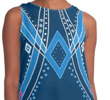 Abstract pattern with ornamental elements, modern print background Contrast Tank