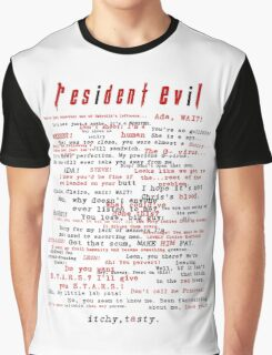 Resident Evil Quotes (dark letters for light colors) Graphic T-Shirt