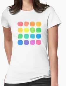 Watercolor Blobs Womens Fitted T-Shirt
