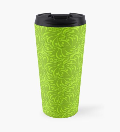 Seamless green bright pattern background abstract texture Travel Mug