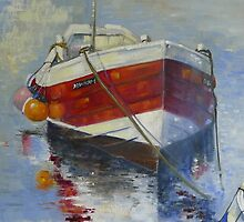 Rose of England, Staithes Harbour by Sue Nichol