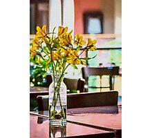 The last yellow flower Photographic Print