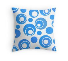 Seamless abstract pattern with circles ornamental elements print background Throw Pillow