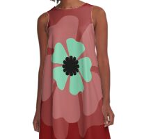 Red Flower 1 A-Line Dress