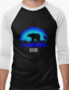 Skagway Alaska  Men's Baseball ¾ T-Shirt