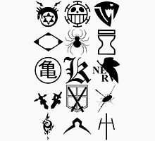 Anime Logos 2_Black Unisex T-Shirt