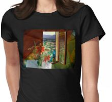 Colours Changing Hue Womens Fitted T-Shirt
