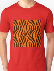 Orange Zebra Animal Print Pattern Unisex T-Shirt