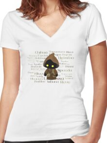 Jawa and Jawaese Women's Fitted V-Neck T-Shirt