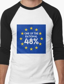 One of the rational 48% - EU Referendum Men's Baseball ¾ T-Shirt