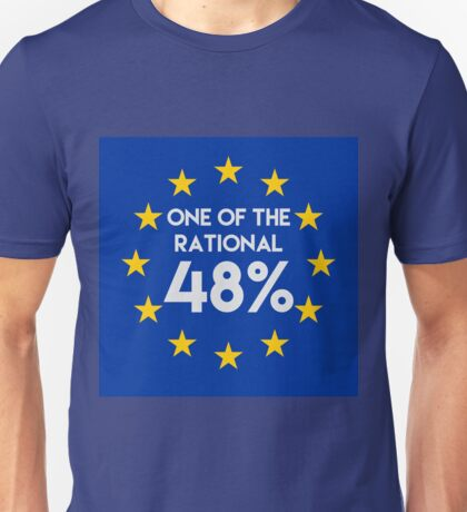 One of the rational 48% - EU Referendum Unisex T-Shirt