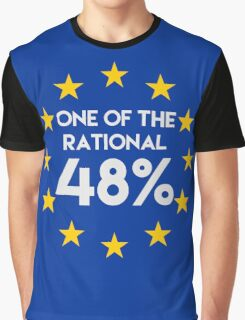 One of the rational 48% - EU Referendum Graphic T-Shirt