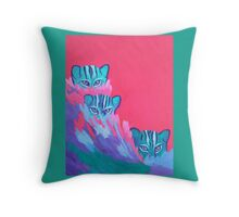 Feline Fishers Throw Pillow