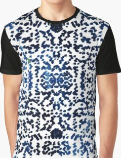 Watercolor Bohemian Ikat Ink Blot Graphic T-Shirt