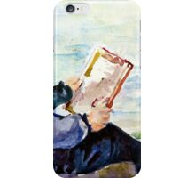 Boy and a book iPhone Case/Skin